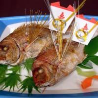 お祝い用に、天然小鯛塩焼き