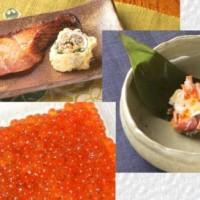 塩引き鮭,いくら,飯寿司