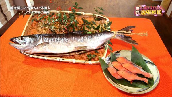 こうして陰干しすること一週間、たっぷりと旨味をとじこめた塩引鮭が完成