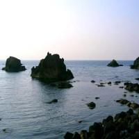 笹川流れの笹塩、目と舌で楽しめる笹エキス入りの緑色のお塩です。