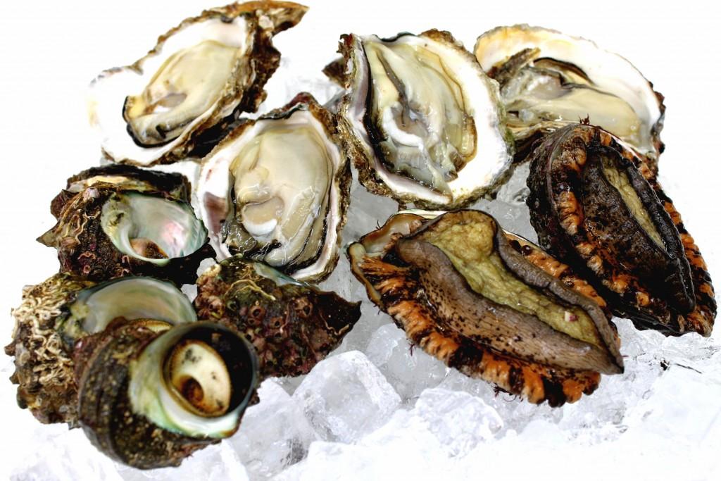 岩牡蠣あわび