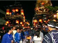 村上大祭夜風景