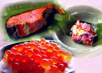 塩引鮭、はらこ、飯寿司