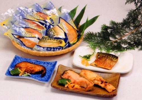 塩引鮭 鮭の味噌漬 ギンダラ醤油漬 鯖醤油漬