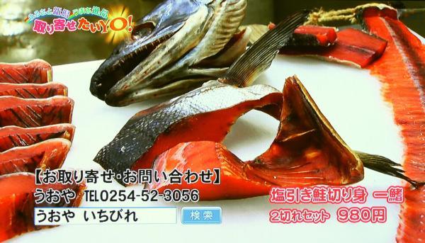 塩引き鮭 一鰭(いちびれ)