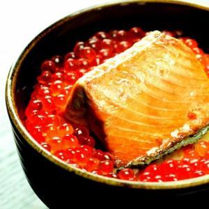 鮭の焼漬といくらの親子丼