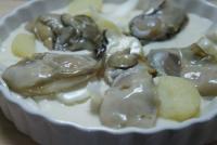 牡蠣 生姜醤油で、お刺身で楽しみます