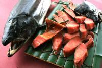 塩引鮭、鮭の酒びたし、鮭の味噌漬